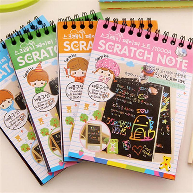 Scratch Sketch Art Notities Regenboog Kras Magic Doodle Notities Perfect Reizen Activiteit Gift Voor Meisjes Jongens