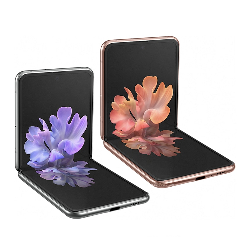 Фото1 - Оригинальный Samsung Galaxy Z Flip F7000 【 100% новый разблокированный складной экран с двумя Sim-картами 6,7 дюйма 8 ГБ ОЗУ 256 Гб ПЗУ NFC Snapdragon