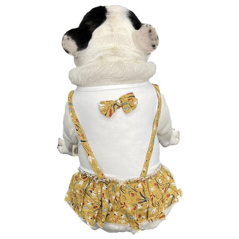 Платье для французского бульдога, летняя одежда для домашних животных, юбка для собаки, подерганский пудель, Бишон, шнаузер, мопса, одежда дл...