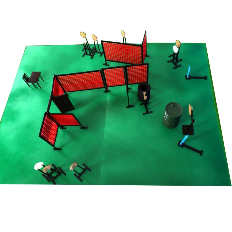 IPSC IDPA Shooting Competition Scene Stage Simulation Master Arena Model
