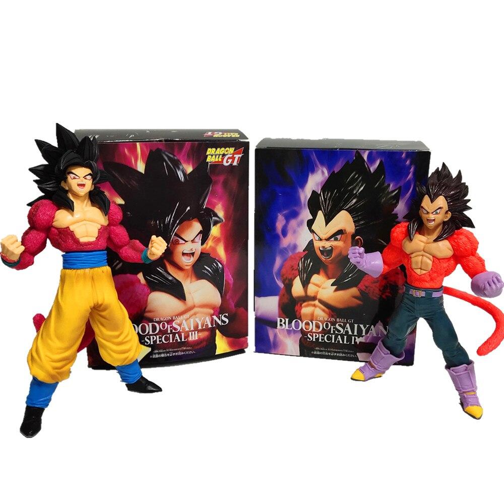 Dragon Ball Z Vegeta Son Goku Super Saiyan 4 Action Figures Anime Dragon Ball GT Vegeta Goku DBZ Figurine Model Toys