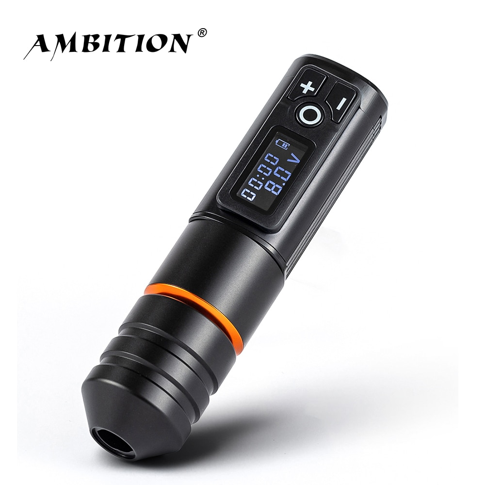 Ambition Ninja Pro Wireless Tattoo Pen Machine Powerful Coreless DC Motor Fast Charging 2000 mah Lithium Battery for Body Art