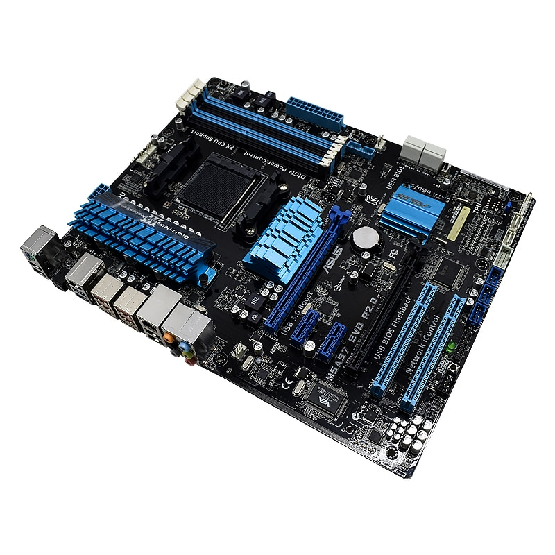ASUS M5A97 EVO R2.0 Original Used Desktop for AM3 / AM3 + 970 motherboards supports FX6 core 8 core PC Mainboard Set