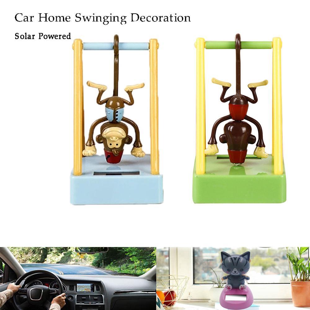 Accesorios de adorno Interior con decoración de ventana de coche de juguete animado de baile con movimiento de muñeca Solar #805