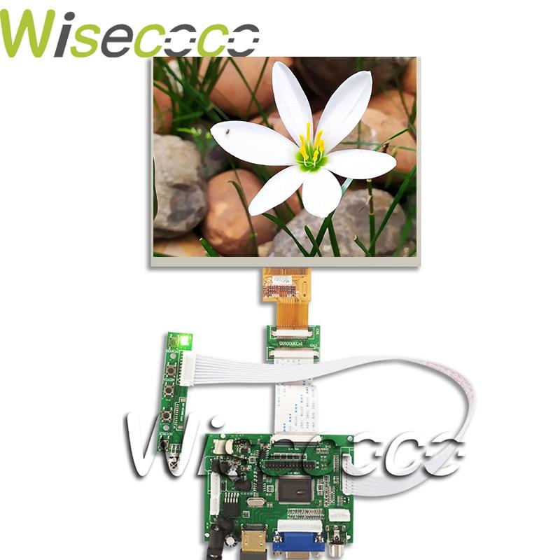 Novo 8 polegada tela lcd 1024*768 tablet HJ080IA-01E HE080IA-01D placa de controle áudio para raspberry pi 3b 2 1 hdmi vga av