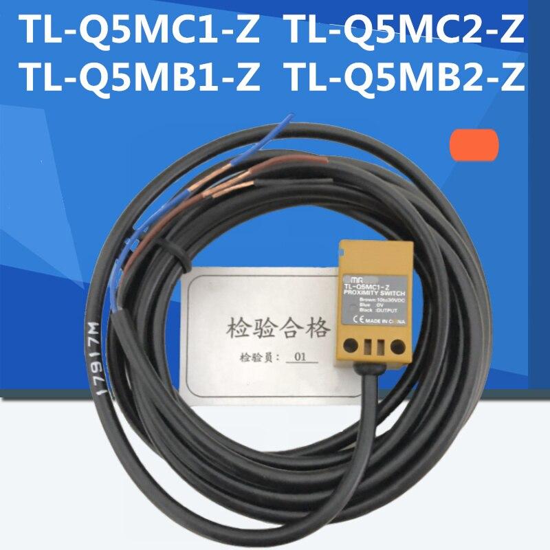 2 pces TL-Q5MC1-Z TL-Q5MC2-Z TL-Q5MB1-Z npn/pnp não/nc interruptor de proximidade sensor indutivo 3 fio DC10-30V 100% novo original