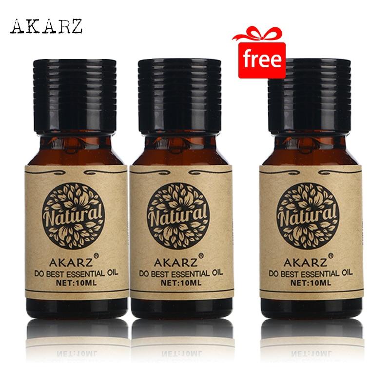 Compre 2 y Obtenga 1 AKARZ, el mejor juego de aceites esenciales de Lotus, aromaterapia para el cuidado de la piel, masaje de SPA, aceite de loto de alta calidad