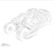 AIBOULLY 7111 blocs de construction Batman Chariot le gobelet Batmobile Batwing Joker minis briques Bringuedos 76023