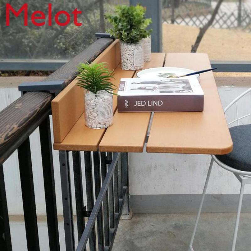 Балконные перила, подвесной стол, складной удобный подвесной компьютерный стол, домашняя барная стойка, креативный складной стол с подъемо...