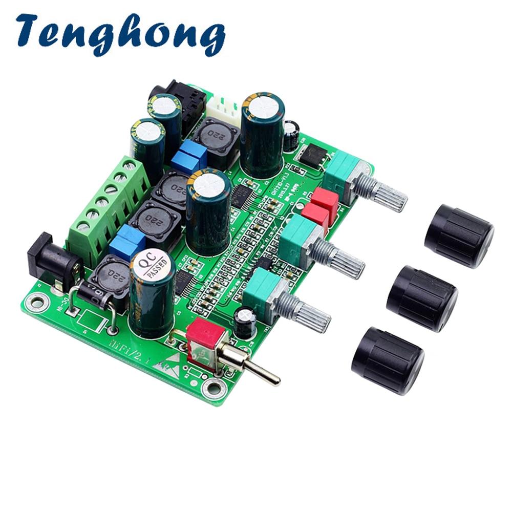 Tenghong TPA3123 Subwoofer HIFI tablero amplificador Digital 2,1 canal Clase D 25W * 2 + 50W alta potencia placa de amplificador de Audio DC12-26V