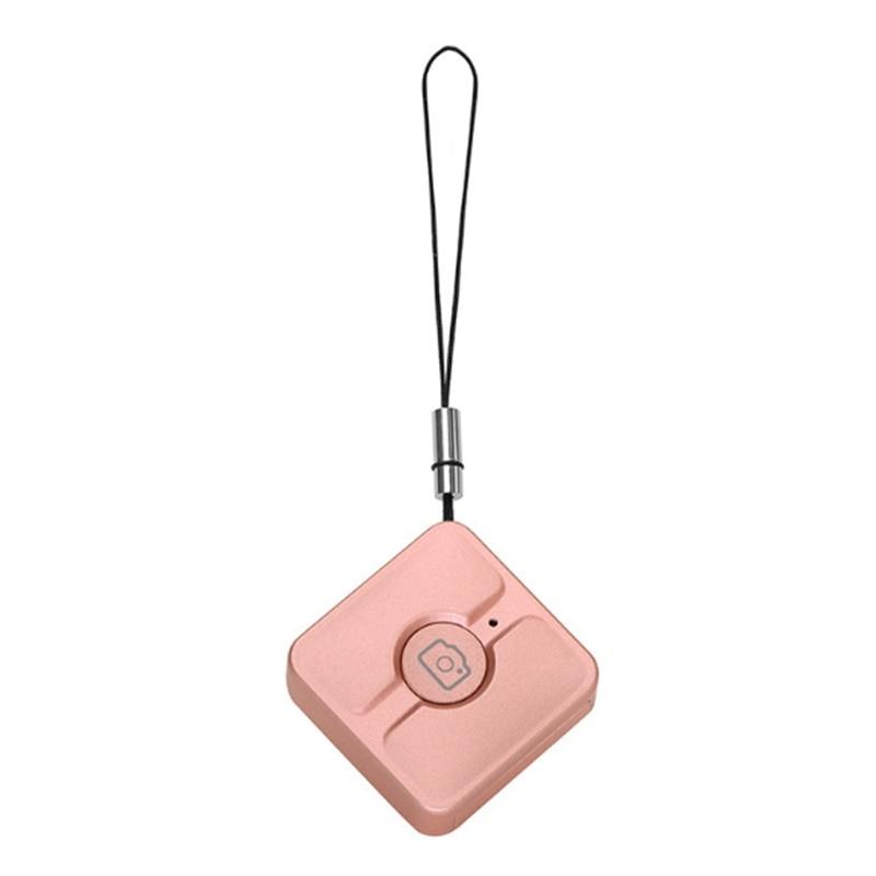 Disparador inalámbrico Control remoto teléfono móvil Bluetooth auto-temporizador palanca Control remoto auto-temporizador artefacto-oro rosa