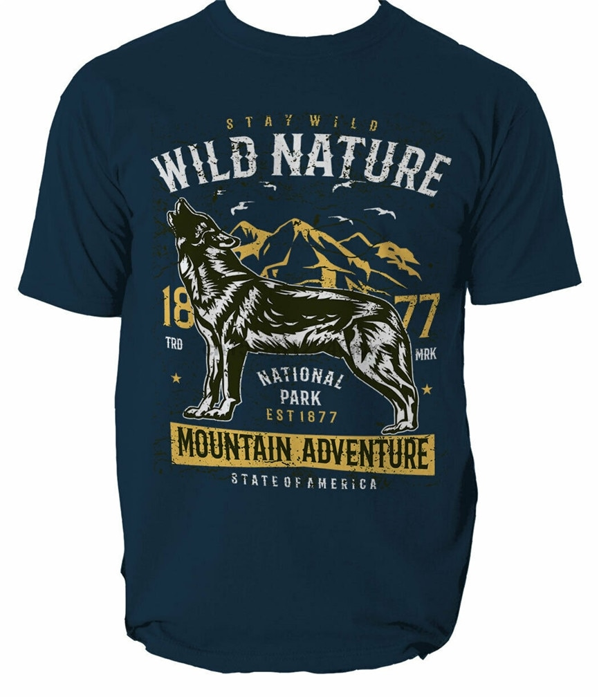 Camiseta Animal salvaje naturaleza Tee lobo para hombre zoológico camaleón Navajo azteca S-3Xl festiva camiseta