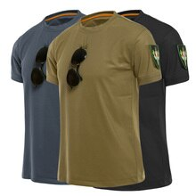 T-shirt à manches courtes pour hommes, vêtement de sport militaire, décontracté, tactique, course à pied en plein air, Rashguard, séchage rapide, taille S-3XL x 223d