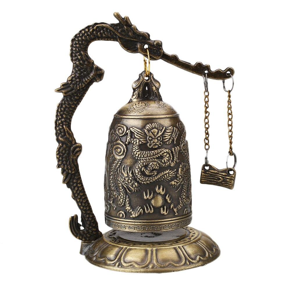 Буддизм медный колокольчик с драконом часы резная статуя Будда лотоса Будда Буддизм искусство часы-Статуэтка декоративные изделия для дома