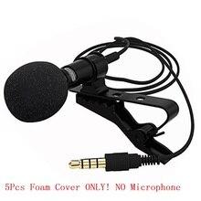 Besegad 5 pièces Lavalier Microphone mousse couverture pare-brise pare-brise coupe-vent pour Mini Clip-on revers Lavalier Microphon Mic Gadget