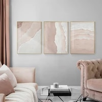 abstract landscape poster and print modern pink desert canvas painting scandinavian wall art pictures for living room home decor