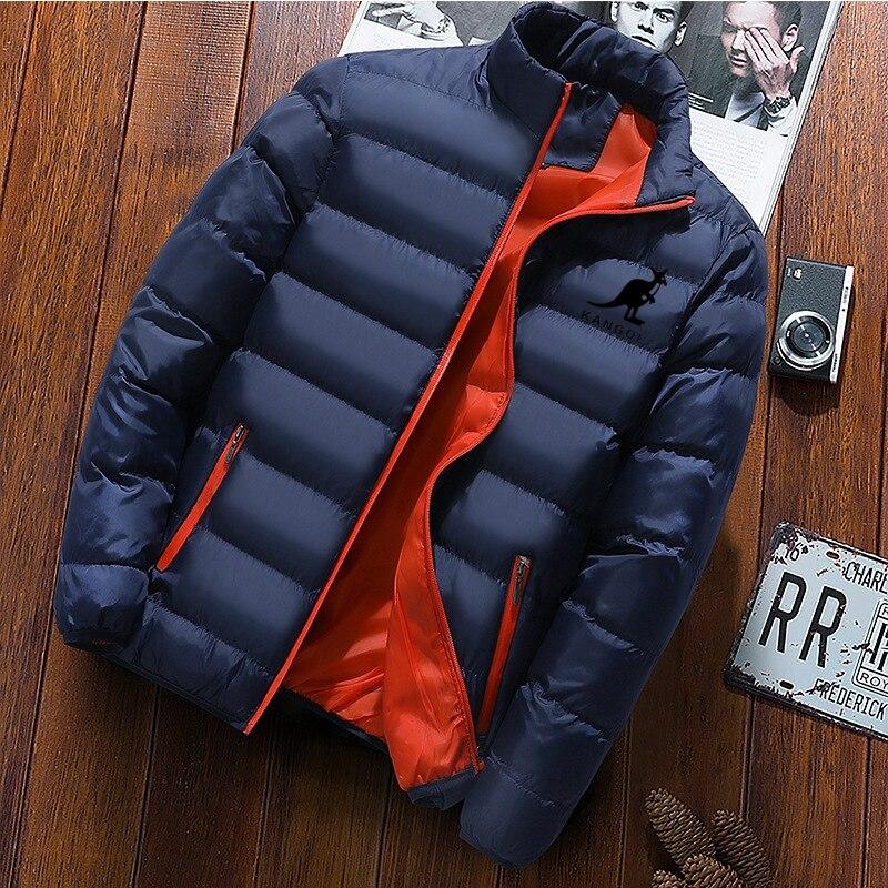 Брендовая куртка KANGOL, Мужское пальто, осенне-зимняя бейсбольная куртка, плотное пальто, ветровка, спортивная куртка для бега, Мужское пальто...