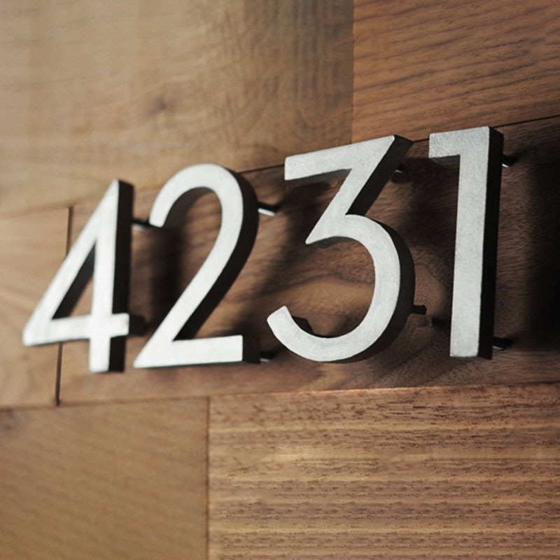 Signo de número de la Casa #0-9 Huisnummer al aire libre de...