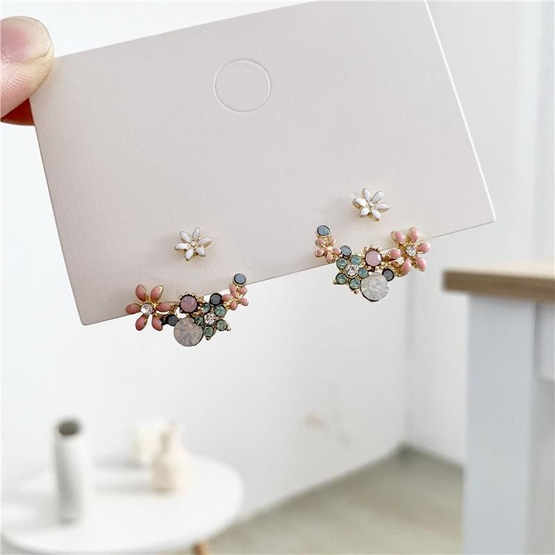 2020 coreano quente moda jóias fresco bonito hoop gota de óleo flor parafuso prisioneiro cristal brinco para as mulheres boucle doreille moda