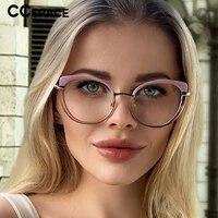 53150 lentes filtro azul mujer tr90 ladies eyewear cat eye decorative vintage transparent woman computer glasses oculos de grau