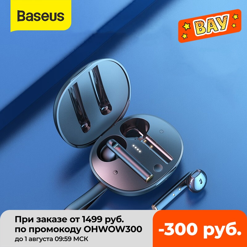 Baseus W05 TWS سماعات بلوتوث لاسلكية 5.0 صحيح لاسلكي HD سماعة ستيريو في الأذن سماعة آيفون 12 برو شاومي