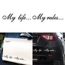 Autocollant auto automatique ma vie... mes règles... Mots motif voiture autocollants décoration 8.5*60cm Auto décalcomanies voiture accessoires