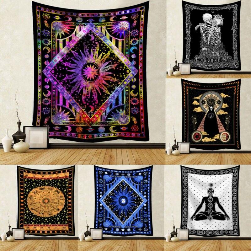 Mandala India tapiz colgante de pared playa de arena alfombra manta de la tienda de Camping de colchón, almohadilla para dormir tapiz