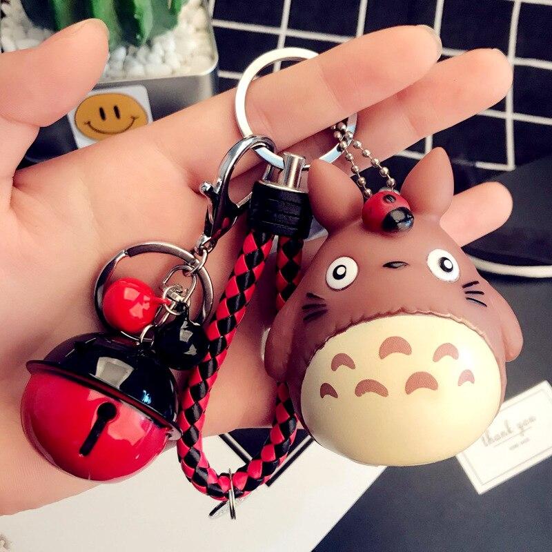 Cute Cartoon My Neighbor Totoro Keychain Voiced Vinyl Keychain Handbags Bags Accessories Promotion Gift Pendants