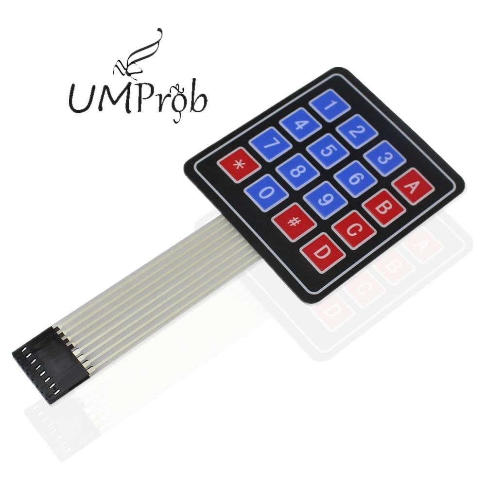 16 клавишный мембранный переключатель клавиатуры 4X4 матричная клавиатура для arduino Diy Kit