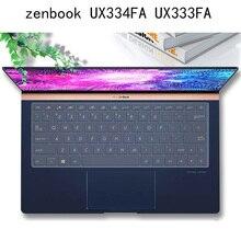Housse de protection pour clavier silicone anti-poussière pour ASUS ZenBook 13 UX333FA UX333F FN UX334 FA UX334FN F accessoires Ultra fins en TPU