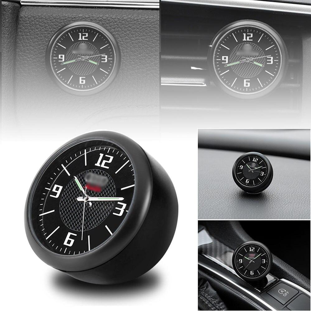 Reloj de coche, reloj de cuarzo electrónico de Interior para coche modificado, decoración de coche con logotipo para Honda BMW Benz VW Audi Nissan