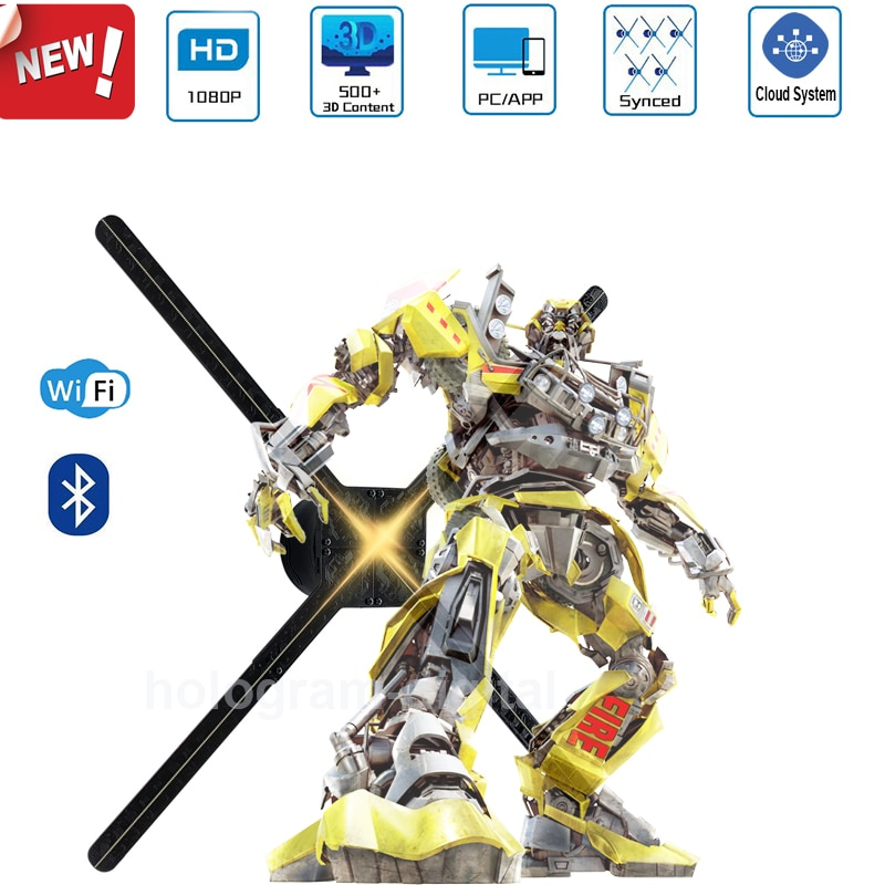 جديد وصول M7 75 سنتيمتر 3D ثلاثية الابعاد هولوغرام مروحة عرض ثلاثية الابعاد led ضوء ثلاثي الابعاد مشغل إعلانات جهاز عرض هولوغرام