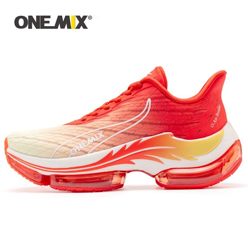ONEMIX Оригинал 2021 новый стиль спортивная обувь для мужчин кроссовки на воздушной подушке дышащая сетка Летняя женская спортивная обувь для х...