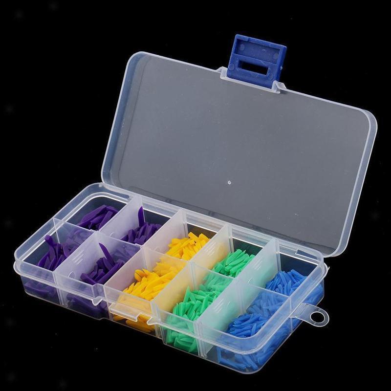 800pcs Disposable Teeth Diastema Dental Plastic Wedges Disposable Dental Consumable Oral Denture Material Supply 4 Sizes
