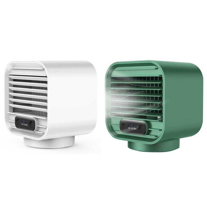 مروحة تبريد مياه صغيرة مبرد الهواء المحمول ، سطح المكتب المنزلية شحن مروحة صغيرة الترطيب رذاذ الهواء برودة