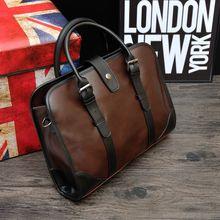 Retro Style Designer Handbags For Men Genuine Leather Mens Handbag For 14 Inch Laptop Fashion Brand Leather Hand Bags