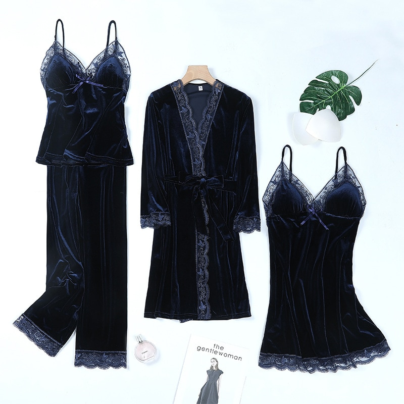 Халат-кимоно Женский бархатный, одежда для отдыха, одежда для сна, повседневная велюровая мягкая Пижама, домашняя одежда, на осень