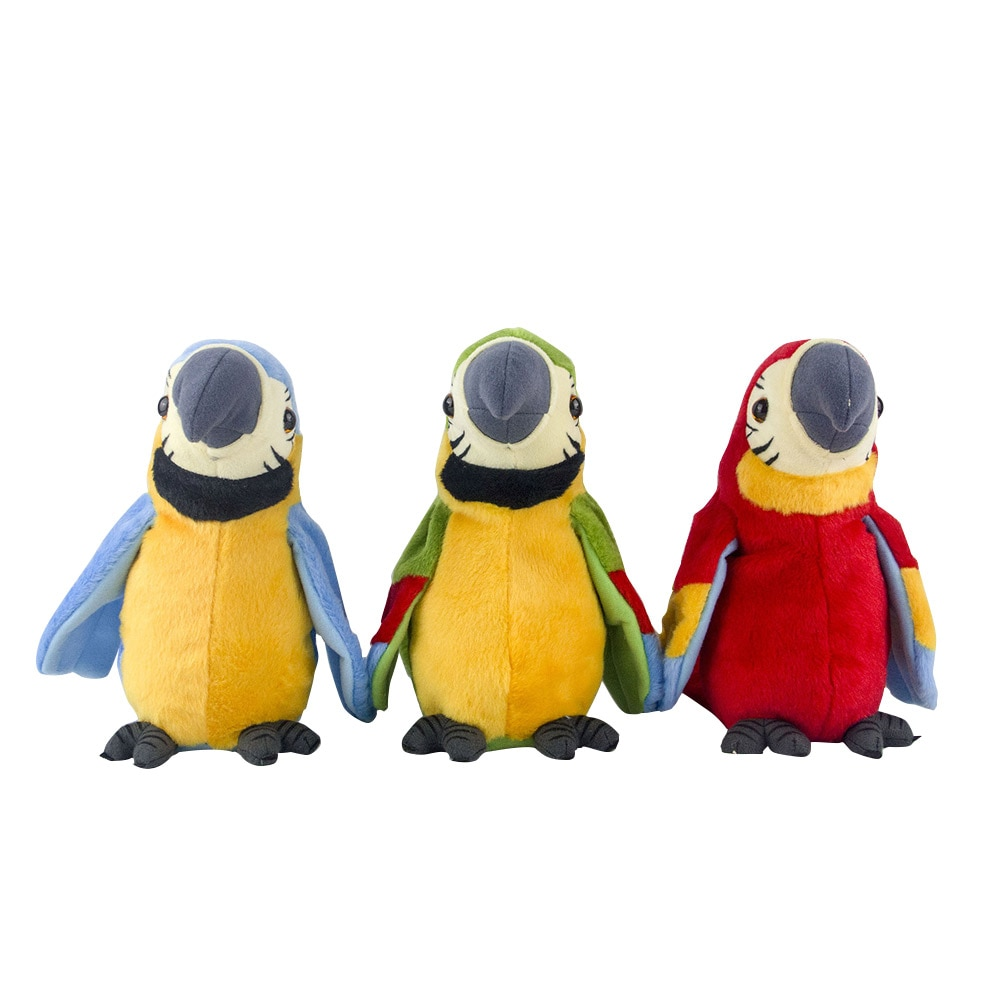 Cute Talking Parrot Toy Electric Talking Parrot Stuffed Plush Toy Bird Repeat What You Say Children