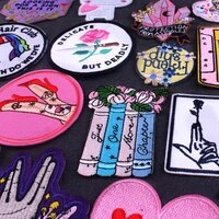 flower patches on clothing iron on patch embroidered dress sewing round flower patches for clothing stickers patch fusible badge