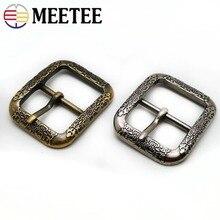 Meetee 2/5 pièces 35mm Vintage antique argent laiton boucles de ceinture en métal broche boucle tête bricolage artisanat en cuir ceintures décoration accessoire