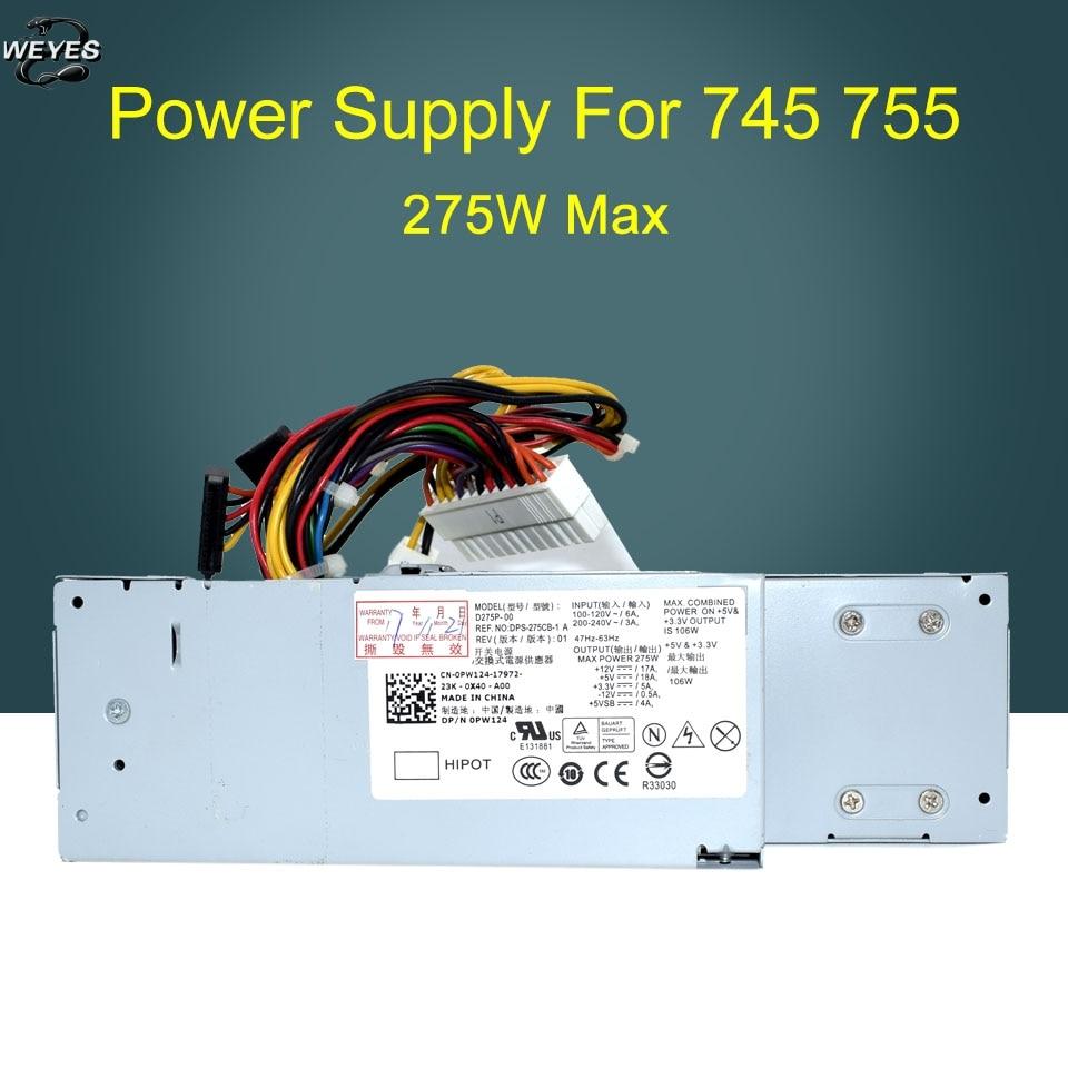 0RM117 0PW124 D275P-00 H275P-01 for Optiplex 740 745 755 275W Power Supply