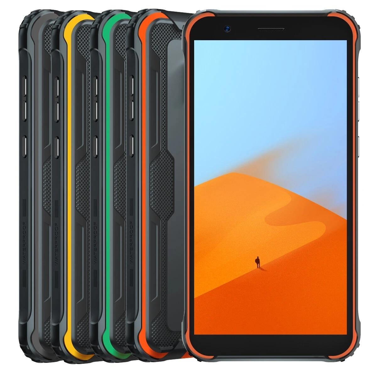 Перейти на Алиэкспресс и купить Blackview BV4900 PRO глобальная версия IP68/IP69K 5,7-дюймовый NFC Android 10 5580 мАч 4 Гб 64 Гб Helio A22 Четырехъядерный 4G смартфон