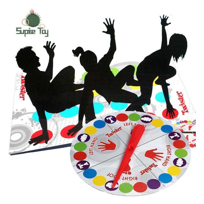 For Hasbro Games Twister Game Indoor Outdoor Toys Fun Game Twisting The Body for Children Adult Sports Interactive Group Toy