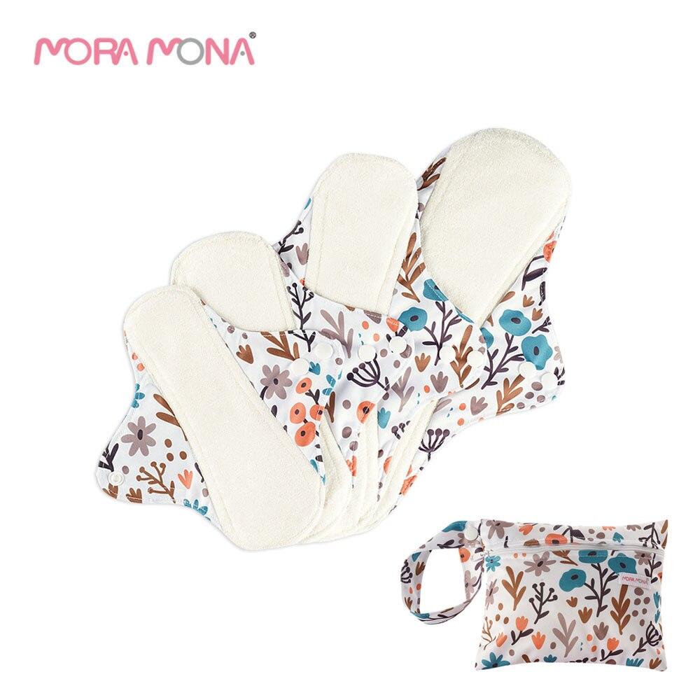 Многоразовая прокладка для трусиков Mora Mona, гигиеническая прокладка из бамбукового волокна, тканевая прокладка для мам, дополнительная водо... недорого