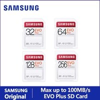 samsung sd card evo plus for creators 32gb 64gb 128gb 256gb sdhc sdxc class 10 memory card up to 100mbs video camera flash card