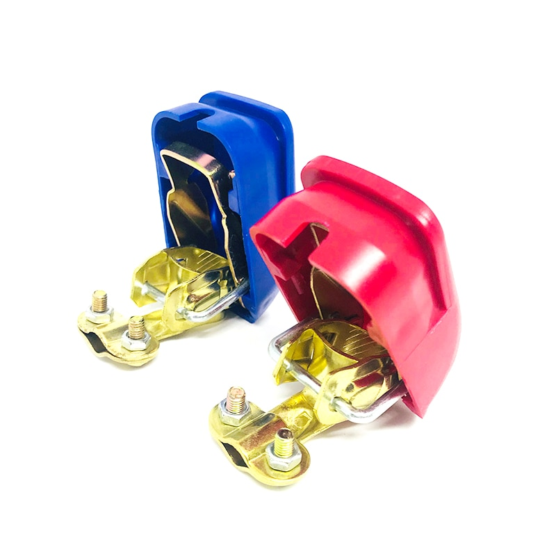 12V Universal Quick Release Battery Terminals Clamps 2PCS For All Post Round Batteries Car Motorcycle Car-styling Accessories