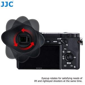 Image 2 - JJC силиконовый вращающийся на 360 ° наглазник видоискатель окуляр для Sony A6100 A6300 A6000 NEX 6 NEX 7 чашка для глаз камеры заменяет FDA EP10