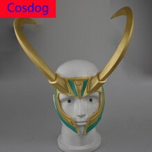 Cosdog Loki Mask Helmet Loptr Hverungr Cosplay Costumes Accessories