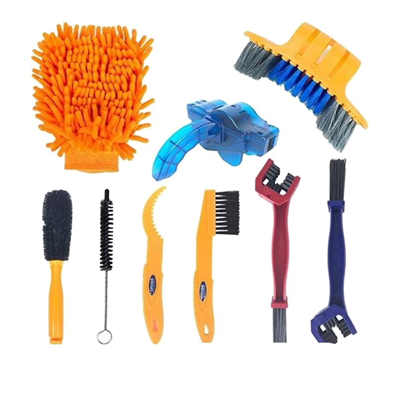 Bicicleta Kit de herramienta limpiador de cadena de bicicleta cepillo mantenimiento herramienta de limpieza Kit para neumáticos esquina limpia