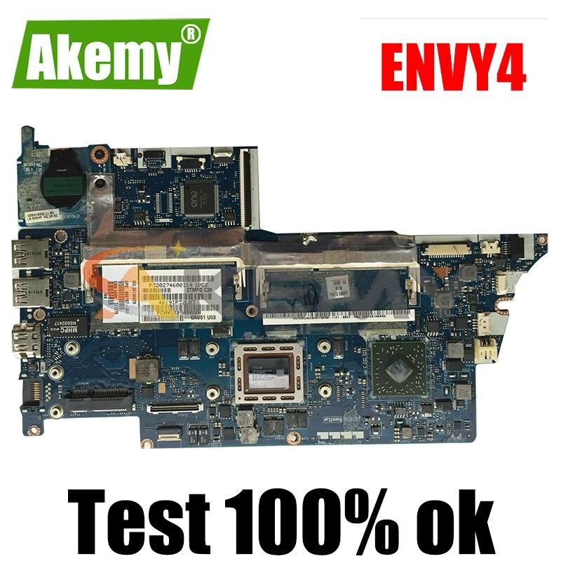 689157-001 689157-501 محمول لوحة رئيسية لأجهزة HP ENVY4 ENVY6 AM4455 مفكرة اللوحة QAU51 LA-8731P AMD